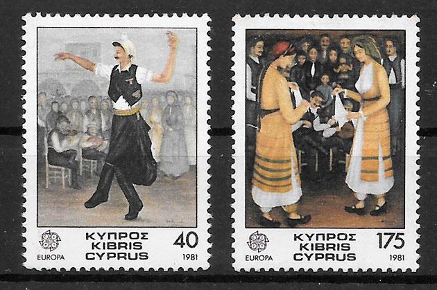 filatelia colección Europa Chipre 1981