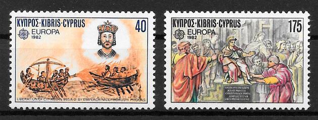 colección sellos Europa Chipre 1982