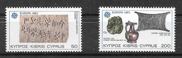 sellos Chipre 1983