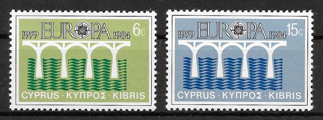 colección sellos Europa Chipre 1984