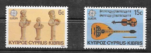 sellos Chipre Tema Europa 1985
