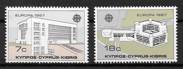 colección sellos Europa 1987 Chipre