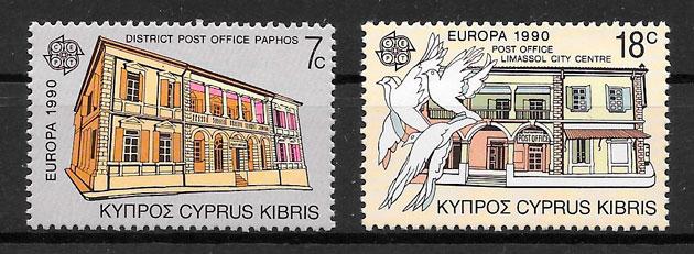 sellos Europa Chipre 1990