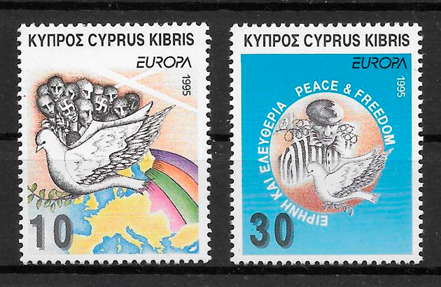 filatelia colección Europa Chipre 1995