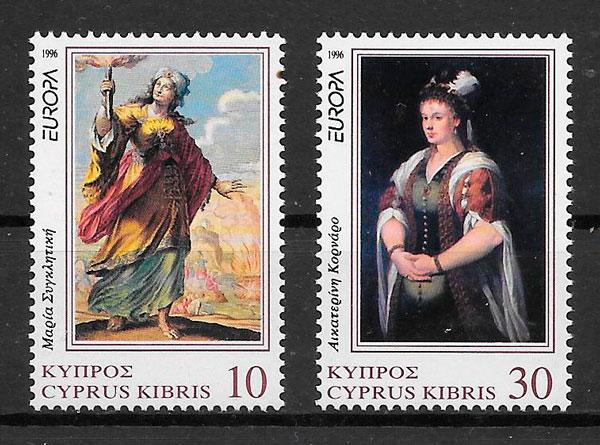 colección sellos Europa Chipre 1996