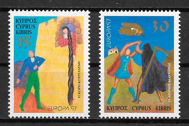 colección sellos Europa Chipre 1997