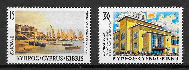 colección sellos Europa Chipre 1998