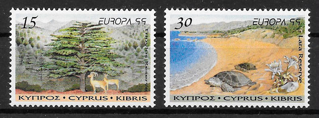 filatelia Europa Chipre 1999