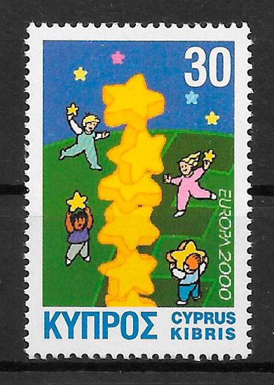 filatelia Europa 2000 Chipre