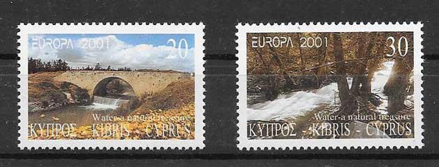 Sellos Chipre 2001