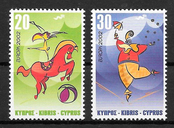 filatelia Europa 2002 Chipre