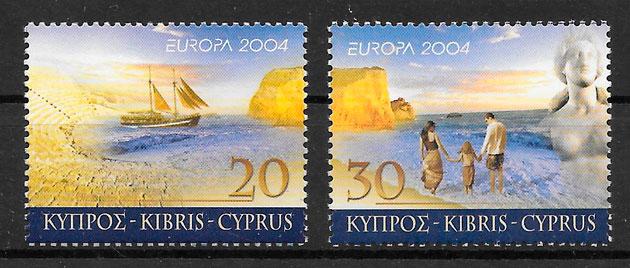 filatelia colección Europa Chipre 2004