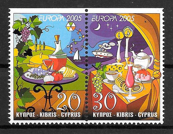 filatelia colección Europa Chipre 2005