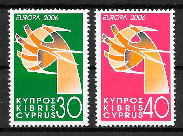 colección sellos Europa Chipre 2006