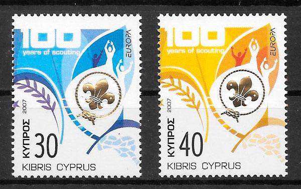filatelia Europa Chipre 2007