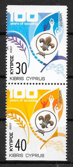 colección sellos Europa Chipre 2007