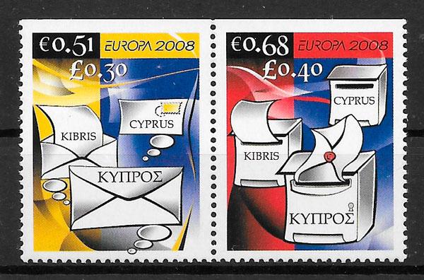 coleción sellos Europa 2008 Chipre