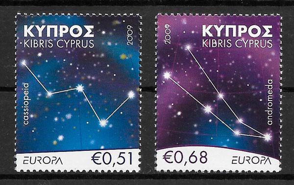 coleción sellos Europa 2009 Chipre