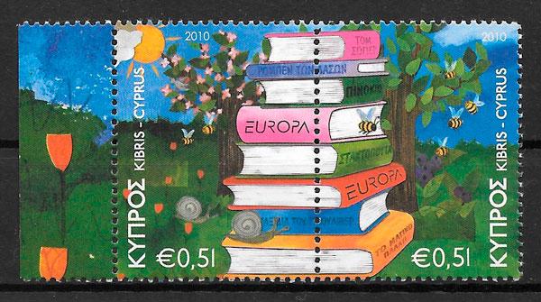 coleción sellos Europa 2010 Chipre