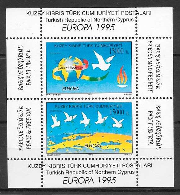 colección sellos tema Europa Chipre Turco 1995