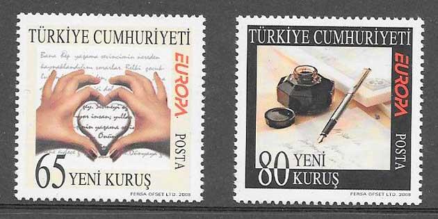 sellos tema Europa Chipre 2008