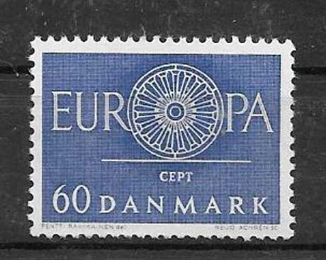 sellos Tema Europa Dinamarca 1960