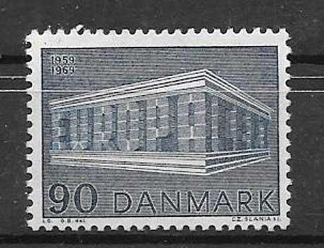 FilateliaTema Europa Dinamarca 1960