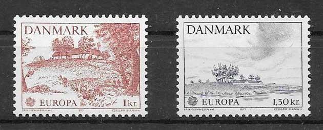 Colección sellos Dinamarca-1977-01