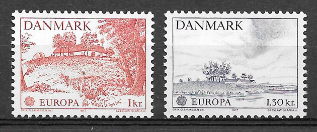 filatelia colección Europa Dinamrca 1976