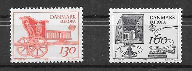 Sellos Tema Europa Dinamarca 1979