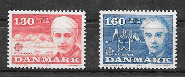 Colección sellos Tema Europa Dinamarca 1978