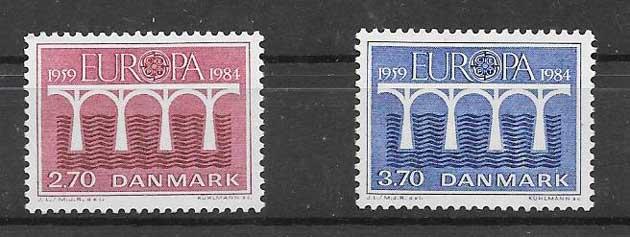 Sellos Dinamarca-1984-01
