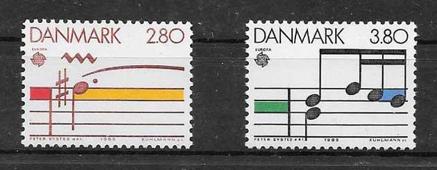 Sellos Tema Europa 1985 Dinamarca