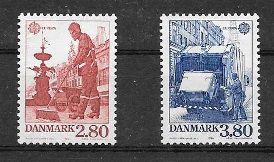 Sellos Tema Europa Dinamarca 1986