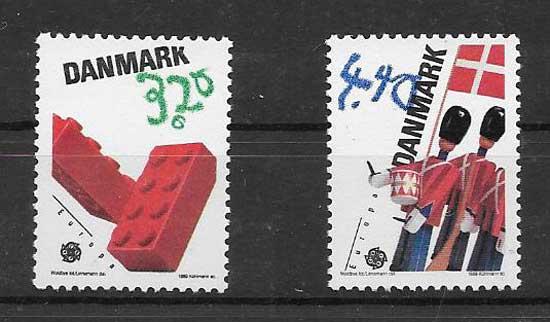 sellos Dinamarca 1989