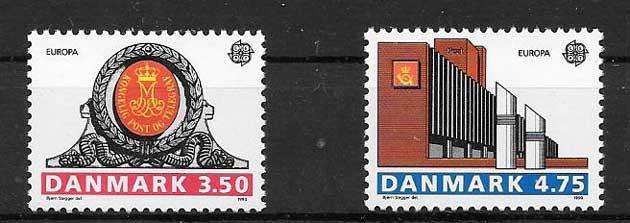sellos Dinamarca 1990
