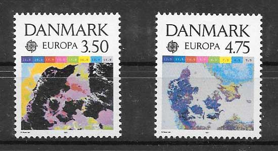 Filatelia Dinamarca 1991