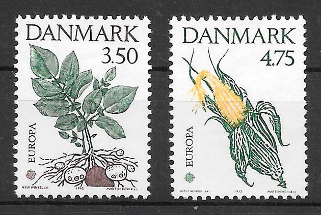 filatelia colección Europa Dinamarca 1992