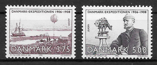 filatelia colección Europa Dinamarca 1994