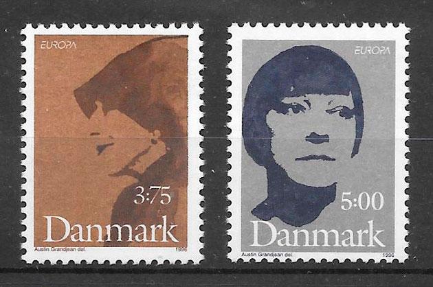 filatelia Europa Dinamarca 1996
