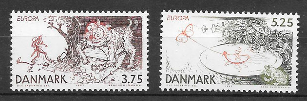 filatelia Europa Dinamarca 1997
