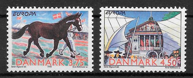 sellos Europa Dinamarca 1998