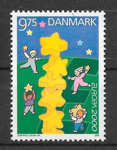 filatelia Europa Dinamarca 2000