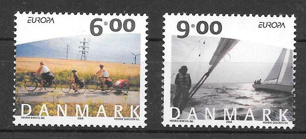 filatelia colección Europa Dinamarca 2004