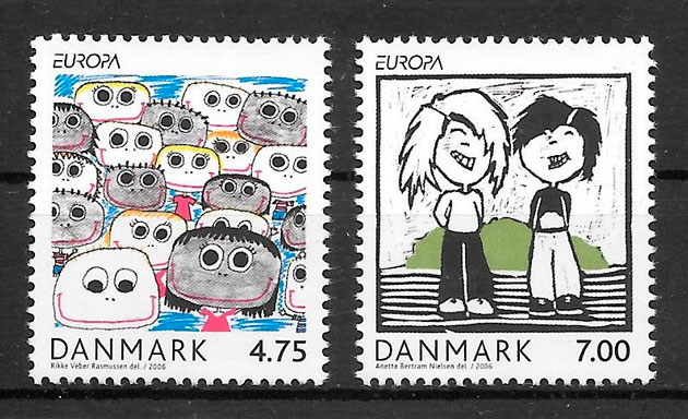 sellos Europa Dinamarca 2006