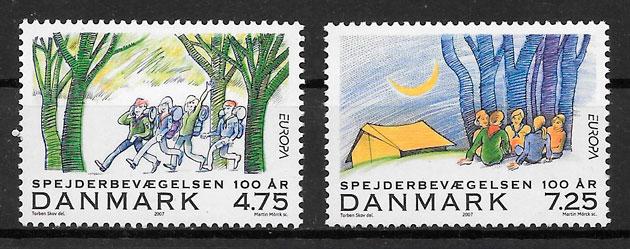 sellos Europa Dinamarca 2007
