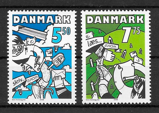 sellos Europa Dinamarca 2008
