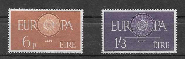 Sellos Tema Europa Irlanda 1960