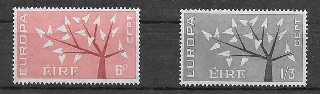 Sellos Tema Europa Irlanda 1962