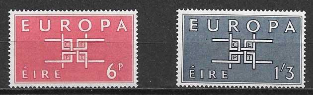 sellos tema Europa Irlanda 1963